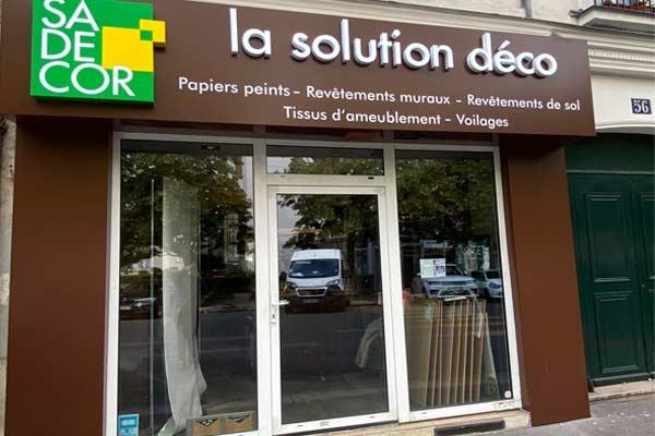 Showroom Sadécor Paris 14e Grossiste en peinture et revêtements de sols et murs
